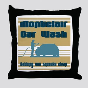 Montclair Car Wash Throw Pillow