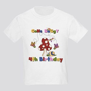 Gone Buggy 4th Birthday Kids Light T-Shirt