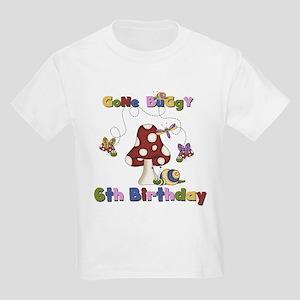 Gone Buggy 6th Birthday Kids Light T-Shirt