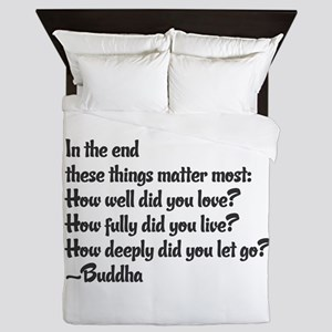 Buddhist Quote: 3 things Queen Duvet