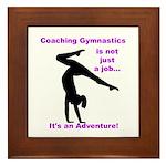 Gymnastics Coach Framed Tile
