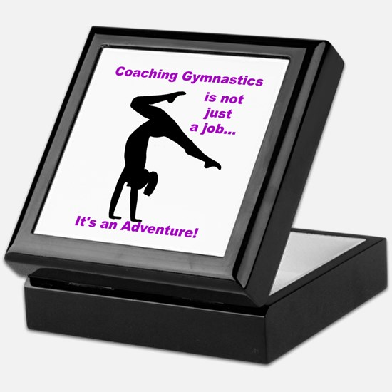 Gymnastics Coach Keepsake Box