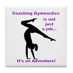 Gymnastics Coach Tile Coaster