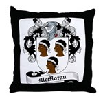 McMoran Family Crest Throw Pillow