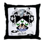 McNab Family Crest Throw Pillow