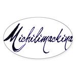 Michilimackinac Oval Sticker