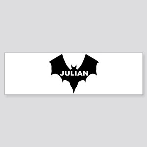 BLACK BAT JULIAN Bumper Sticker