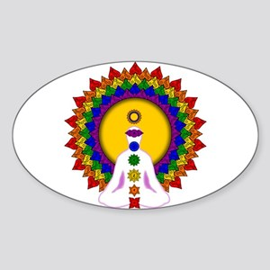 Spiritually Enlightened Oval Sticker