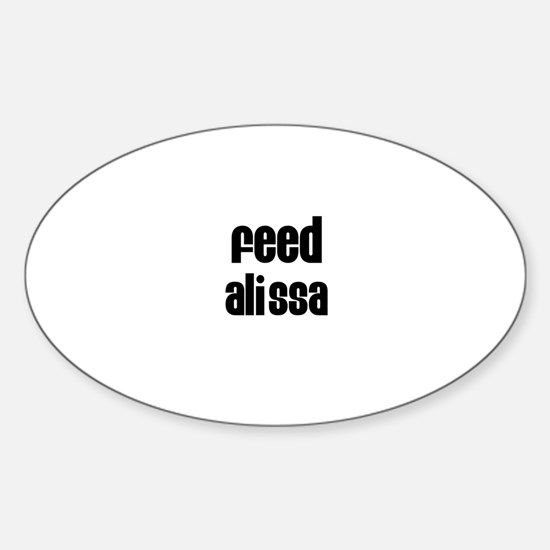 Feed Alissa Oval Decal