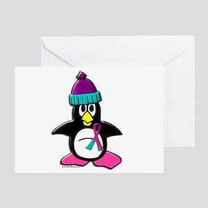 Winter Penguin 1 (Thyroid) Greeting Card