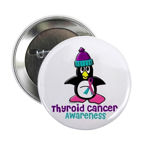 "Winter Penguin 2 (Thyroid Cancer) 2.25"" Button"