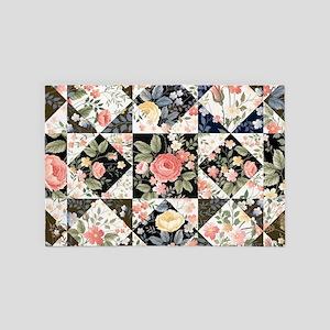 Patchwork Floral 4' x 6' Rug