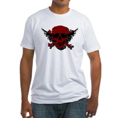 Red and Black Graphic Skull Shirt