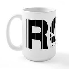 Rochester New York Airport ROC Large Mug