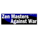 Zen Masters anti-war bumepr sticker