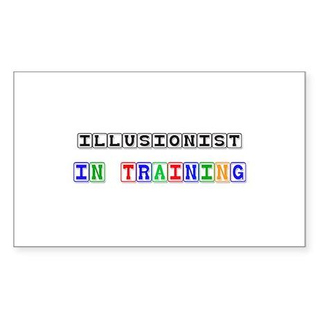 Illusionist In Training Rectangle Sticker