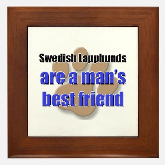 Swedish Lapphunds man's best friend Framed Tile