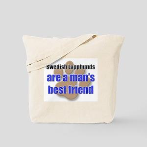 Swedish Lapphunds man's best friend Tote Bag