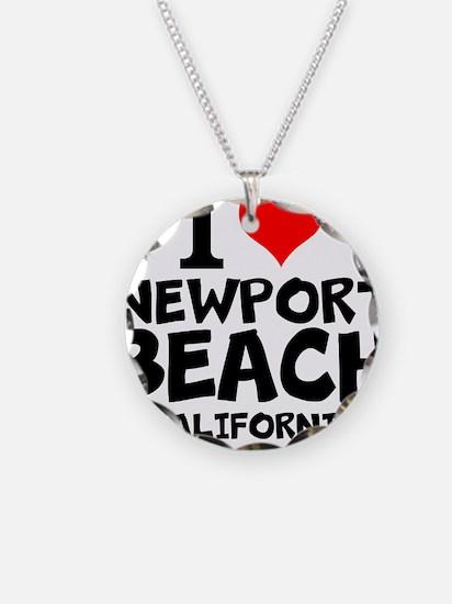 I Love Newport Beach, California Necklace