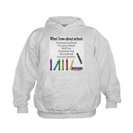Things I Love About School! Kids Hoodie
