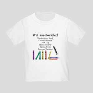 Things I Love About School! Toddler T-Shirt