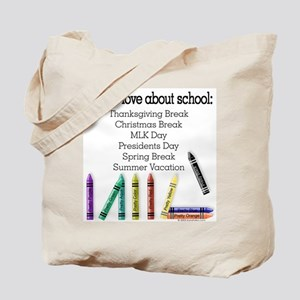 Things I Love About School! Tote Bag