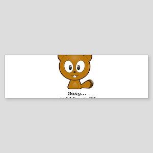 Sexy And I Know It Chipmunk Bumper Sticker