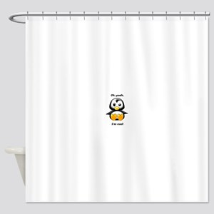 Oh Yeah, I'm Cool Penguin Shower Curtain