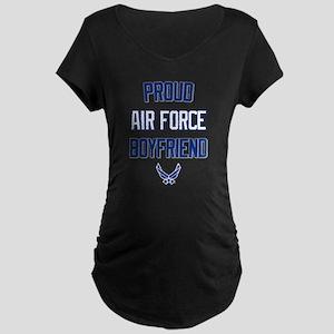 Proud Air Force Boyfriend Maternity Dark T-Shirt