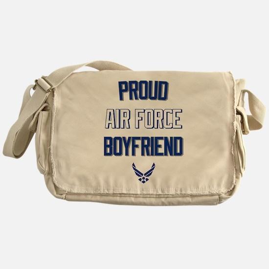 Proud Air Force Boyfriend Messenger Bag