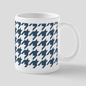 Dusky Blue Houndstooth Pattern Mug