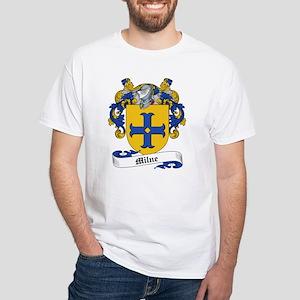 Milne Family Crest White T-Shirt