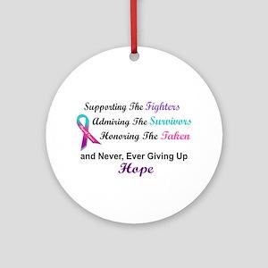 Fighters Survivors Taken 1 (Thyroid) Ornament (Rou