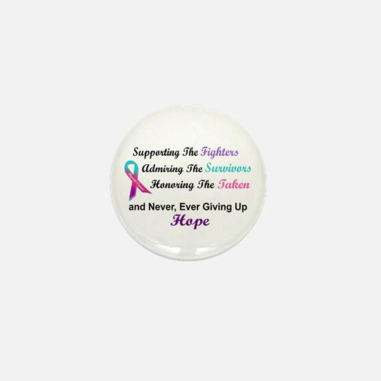 Fighters Survivors Taken 1 (Thyroid) Mini Button