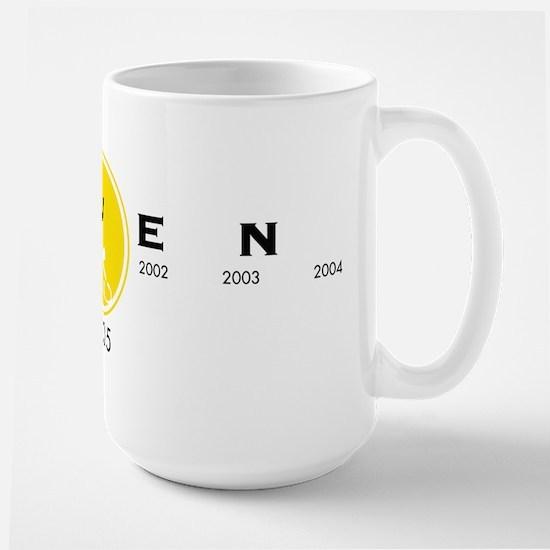 Stenciled Seven Large Mug