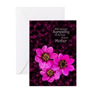 Sympathy in loss of mother greeting cards cafepress m4hsunfo