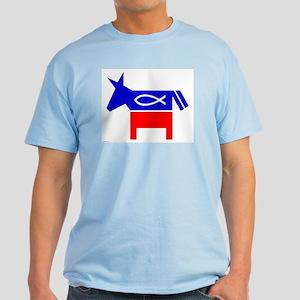 Christian Fish Democratic Donkey Color T-Shirt