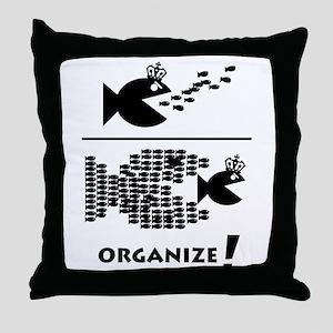 Organize Fish Throw Pillow