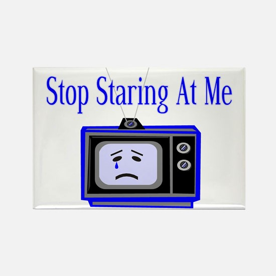 Stop Staring Rectangle Magnet