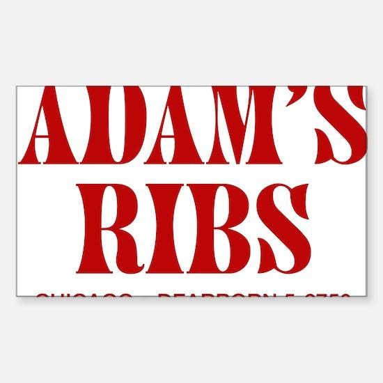 Adam's Ribs Rectangle Decal