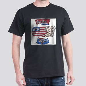 Bigfoot American Flag no boarder T-Shirt