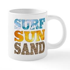Surf, Sun, Sand Mugs
