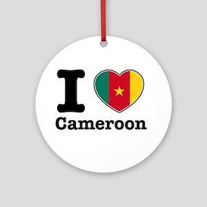 I love Cameroon Ornament (Round)