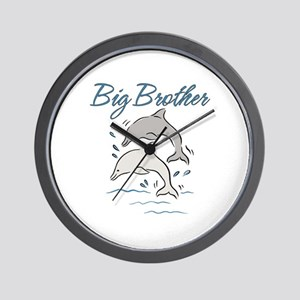 Dolphins Big Brother Wall Clock