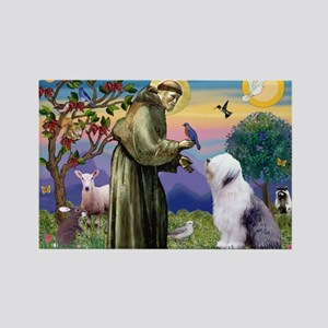 ST. FRANCIS + OES Rectangle Magnet