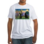 Saint Francis' Newfie Fitted T-Shirt