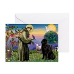 Saint Francis' Newfie Greeting Cards (Pk of 10)