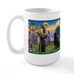 Saint Francis' Newfie Large Mug