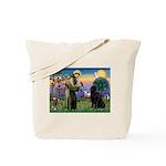 Saint Francis' Newfie Tote Bag