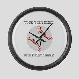 Personalized Baseball Large Wall Clock